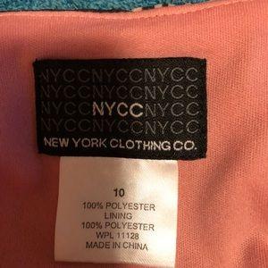 New York & Company Skirts - GORGEOUS 🥰PINK ZIG-ZAG BOTTOM HEM SKIRT